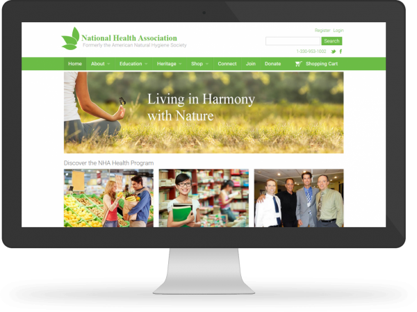 National Health Association Desktop Responsive