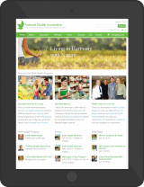 National Health Association Tablet Responsive